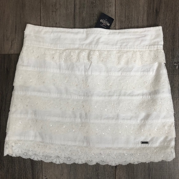 Hollister Dresses & Skirts - Hollister white lace skirt